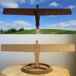 Earring holder Angel of the North