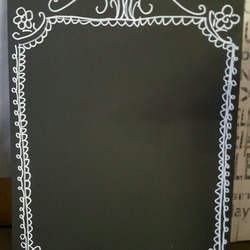 A3 Chalkboard Hand Decorated Shabby Chic Blank Large Blackboard