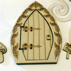 Wooden 3D Fairy Door