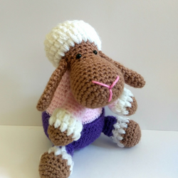 Lucky Lamb crocheted amigurumi toy