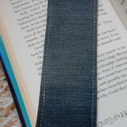 Upcycled Recycled Denim Jeans Fabric bookmark