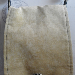 Upcycled Recycled Lined Grey Yellow Cross Body Shoulder  Messenger Bag Satchel