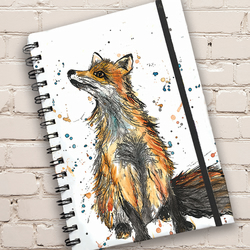 Fox Print Hardback Notebook