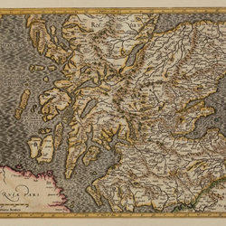 Map of Scotland – Medieval Reproduction – Vintage, Old Map of Edinburgh, Glasgow