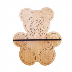 Oak Teddy Bear Shelf