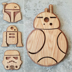 Star Wars Wall Art Oak on American walnut