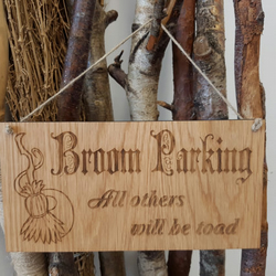 Broom Parking Witch Plaque