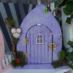 Wooden fairy door