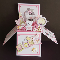 A BEAUTIFUL BABY GIRL POP UP BOX CARD