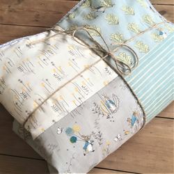 Peter Rabbit Patchwork Teal Cot Pram Quilt New Official Prints