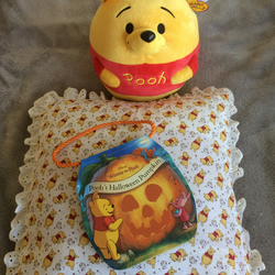 Pooh Bear story cushion, book and toy