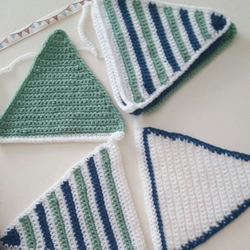 Bunting hand crocheted
