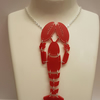 Statement Lobster Necklace - Acrylic