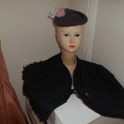 STEAM PUNK GOTH  VICTORIAN HAT AND CAPE