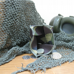 Coin Purse - Origami Folding Purse - Army Olive Green-Brown Camouflage
