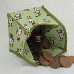 Coin Purse - Origami styled folding purse - Alice in Wonderland Playing Cards