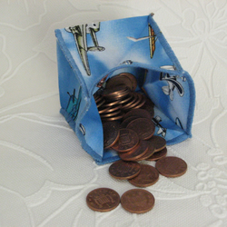Coin Purse -  Origami Folding Purse - Aeroplanes