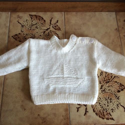 BABY BOYS MOTIF JUMPER