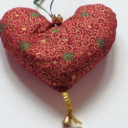 Christmas Valentines Lavener Heart with Bell3.