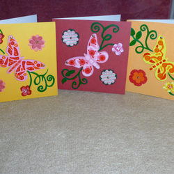 Wooden Butterfly & Flower Cards
