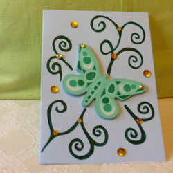 Wooden Butterfly Patterned Card