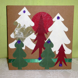 Tree Scene Greetings Card.