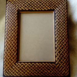 Pyrography Celtic Knotwork Picture Frame