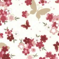 Shabby Chic Fabric - Butterfly Design- By The Metre - Quilting Antique