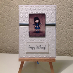 Gorjuss Girl Birthday Card