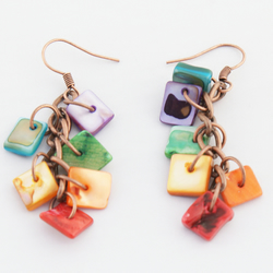 Copper Rainbow Earrings