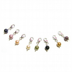 Sterling Silver and Swarovski Elements Pearl Clip-On Charms