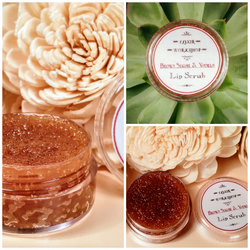 Brown sugar Vanilla Lip Scrub with vitamin E