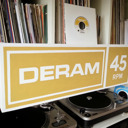 Deram Record Label Painting, Record Label, Music Inspired Painting, Handpainted