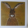 Dotty Brown Hare Monotype ArtCard
