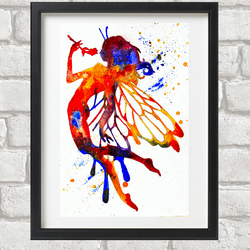 Flower Fairy Giclee Print A4 size
