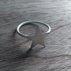 Hand Made Sterling Silver Star Ring in A Gift Box