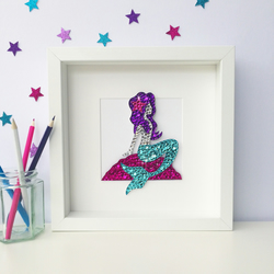 Sequin mermaid picture