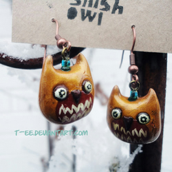 Snish Owl Earrings