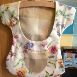 Retro style floral dress peg bag - clothespin bag -indoor fabric bag