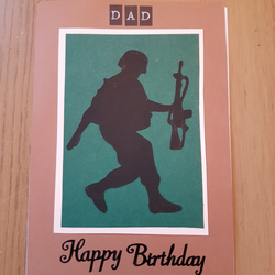Handmade soldier dad birthday card folksy handmade soldier dad birthday card bookmarktalkfo Image collections