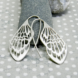 Silver insect wings