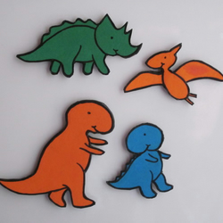 Happy Dinosaurs Magnet Set