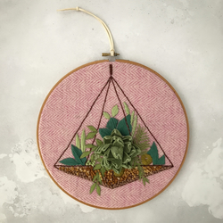 Embroidered Terrarium Garden