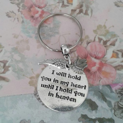 baby memorial keyring hold you in heaven bag charm family love