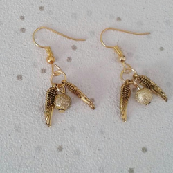 Golden snitch earrings gold harry potter inspired earing gift
