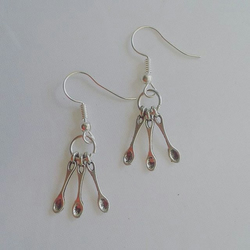 Tiny spoon earrings silver dangle spoonie gifts awareness jewellery