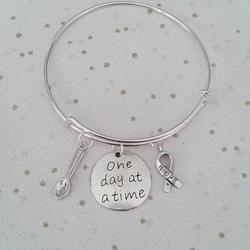 sale one day at a time spoonie awareness bracelet bangle fibro lupus chronic