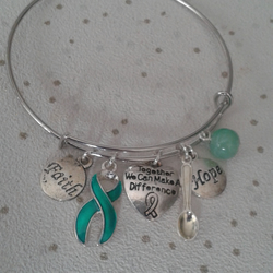 Awareness bangle bracelet choose lyme disease together we can make a difference