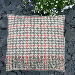 "Coral 15"" handwoven wool cushion"