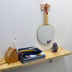 Table Tennis Ping Pong Birch Wood Mirror